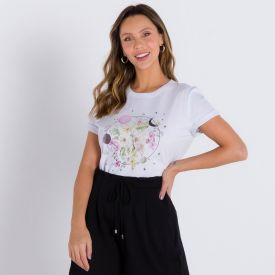 T-shirt Mística Patrícia Foster Branco