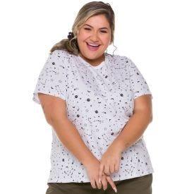 T-Shirt Plus Size Mística Patrícia Foster Mais Estampado