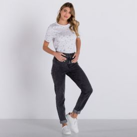 T-Shirt Rotativa Holística Boby Blues Branco