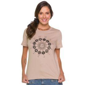 T-shirt Signos Zodíaco Patrícia Foster Cappuccino