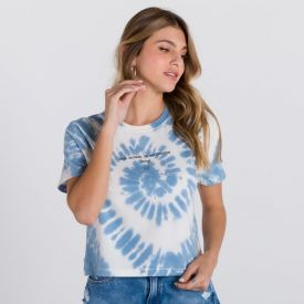 T-Shirt Tie Die com Estampa Boby Blues Tie Die Azul