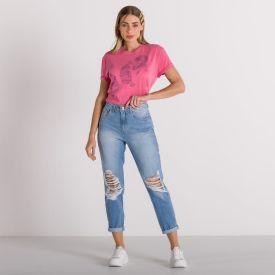 T-shirt Tigres Boby Blues Rosa