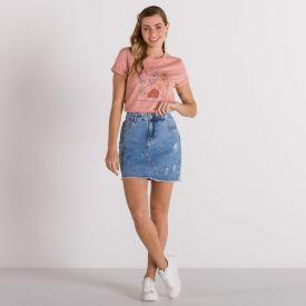 T-Shirt Tipos de Flores Patricia Foster Rose Quartz