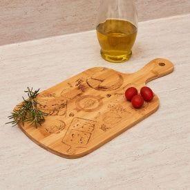Tabua de corte Design Laser Queijo Finecasa - Bambu
