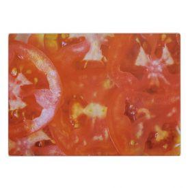 Tábua De Corte Em Vidro 25Cm Solecasa - Tomate
