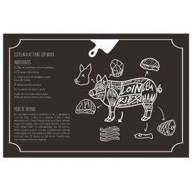Tábua De Corte Porco 20Cm Solecasa - Vidro