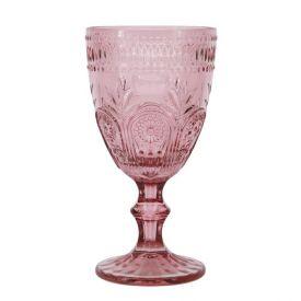 Taça De Vinho Solecasa Diamante 320Ml - Rosa