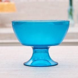 Taça Sobremesa Luna Cristal 300Ml Martiplast - Petroleo