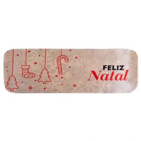 Tapete De Natal Transfer 40X90cm - Feliz Natal Prata