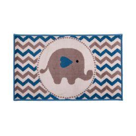 Tapete Funny 57X1,00M Para Quarto J Serrano - Elefante Azul