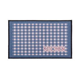 Tapete Napoli 50X70cm Antiderrapante Para Cozinha - Xadrez Kitchen