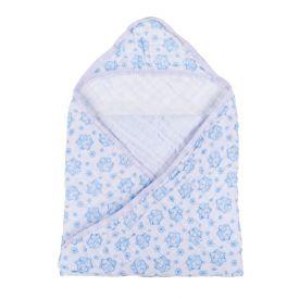 Toalha De Banho Bebê 85Cm X 85Cm Compose Soft Minasrey - Azul