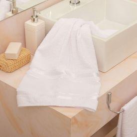 Toalha De Banho Capricho Para Bordar - Branco
