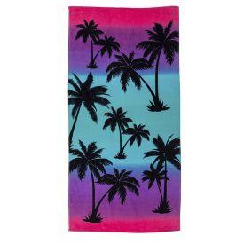 Toalha De Praia Aveludada Coteminas - Pink Paradise