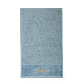 Toalha De Rosto Bordada Desejos - Inverno Azul Gratidão