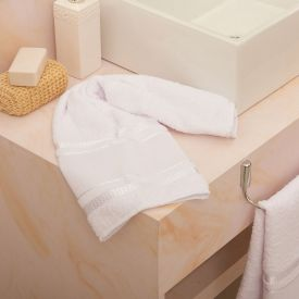 Toalha De Rosto Capricho Para Bordar - Branco