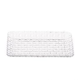 Travessa De Cristal Tress 25X13x2cm Lyor - Transparente