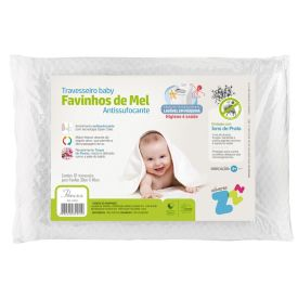 Travesseiro Bebê Antissufocante Favinhos de Mel Baby - DIVERSOS
