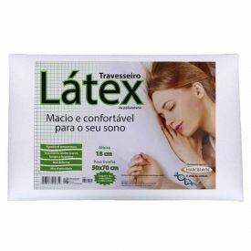 Travesseiro Látex 50X70x18cm Marcbrayn - Branco