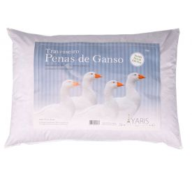 Travesseiro 50X70cm Penas De Ganso Percal 223 Fios Yaris - DIVERSOS