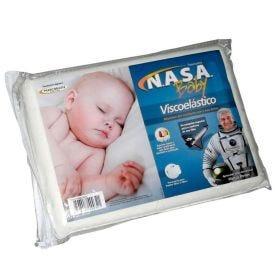 Travesseiro Visco Nasa Baby 30cm x 40cm - Marcbrayn - Branco