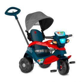 Triciclo Velobaby Com Capota Passeio & Pedal Azul Bandeirante - 337