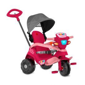 Triciclo Velobaby Com Capota Passeio & Pedal Rosa Bandeirante - 339