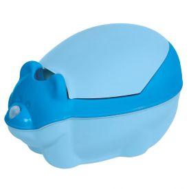 Troninho Infantil Higiênico Com Função Musical Tutti Baby - Azul Bebe