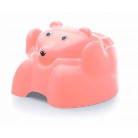 Troninho com Tampa Urso Plástico Higiênico Yoyo Baby - CORAL