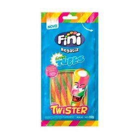 Tubes Twister De Frutas Silvestres Com Nata Cítrico Fini - 80g