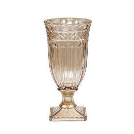 Vaso Com Pé Brandon 16X32,5Cm Lyor - Âmbar