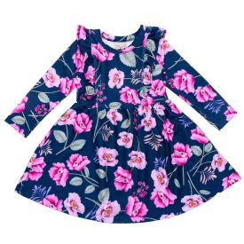 Vestido 1 a 3 Anos Molecotton Floral Fakini Floral Marinho