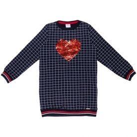Vestido 4 a 10 anos Molecotton Coração Lantejoulas Alakazoo