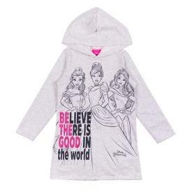 Vestido 4 a 10 anos Princesas Believe com Capuz Kamylus Mescla