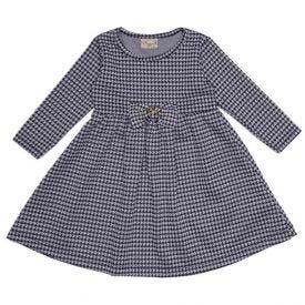 Vestido de Bebê Cotentine Pied de Poule Fakini