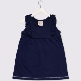 Vestido de Bebê Liso Yoyo Baby Oxford