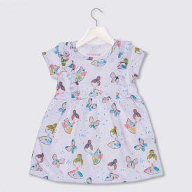 Vestido de Bebê Menina Bailarinas Babados Yoyo Baby Estampado
