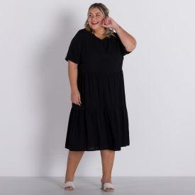Vestido Plus Size Marias Patricia Foster Mais Preto