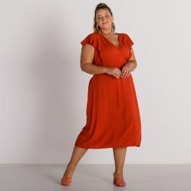 Vestido Plus Size Transpassado Patrícia Foster Mais Telha