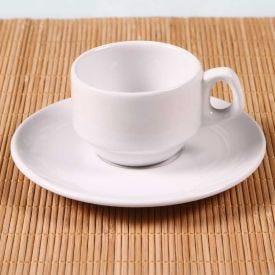 Xícara De Café Com Pires 80Ml Hotel - Oxford - Porcelana