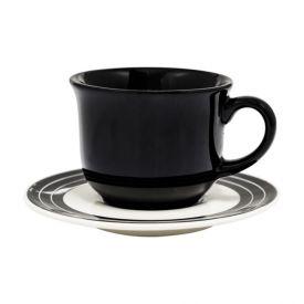 Xícara De Chá Com Pires Biona New Arabesco 200Ml - Cerâmica