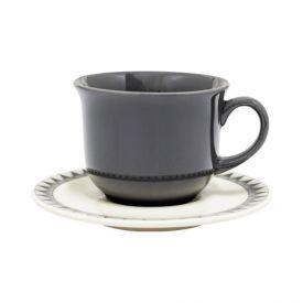Xícara De Chá Com Pires Biona New Manhattan 200Ml - Cerâmica