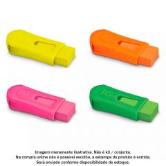 Apontador Com Borracha E Depósito Mix Neon Fabel-Castell - SM/124BORSZF