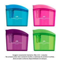 Apontador Com Deposito Clickbox Faber-Castell - SM/CLICKBOX
