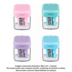 Apontador Com Deposito Minibox Tons Pastel Faber-Castell - SM/MINIBOX