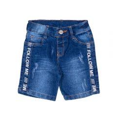 Bermuda 1 a 3 Anos Estampa Lateral Yoyo Kids Jeans