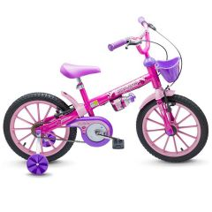 Bicicleta Infantil Aro 16 Top Girls Nathor - Rosa