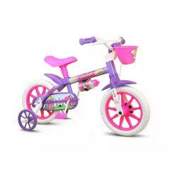 Bicicleta Infantil Violet Aro 12 com Garrafinha Nathor - Lilás