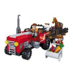 Blocos de Montar Transporte de Animais Xalingo - 04087 - Vermelho