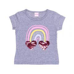 Blusa 1 a 3 anos Arco Iris Lantejoula Reversível Yoyo Kids